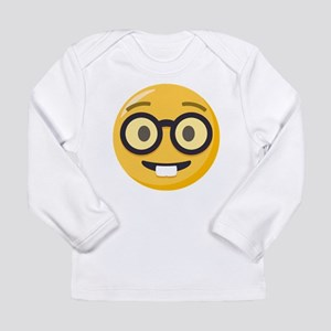 Nerd-face Emoji Long Sleeve Infant T-Shirt