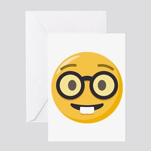 Nerd-face Emoji Greeting Card