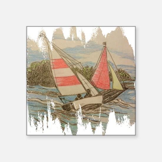 Hand Drawn Sailboats Sticker