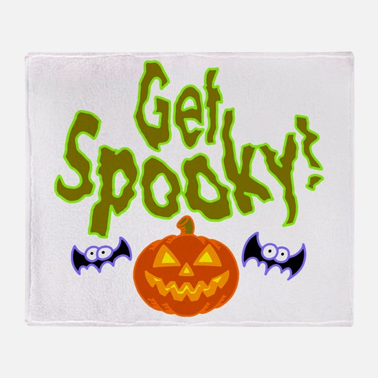 Halloween Get Spooky! Throw Blanket