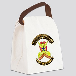 9th Support Battalion Canvas Lunch Bag