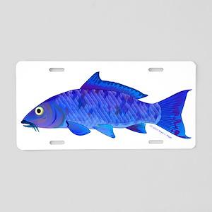Blue Koi carp Aluminum License Plate