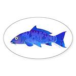 Blue Koi carp Sticker