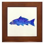 Blue Koi carp Framed Tile