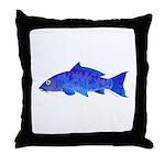 Blue Koi carp Throw Pillow