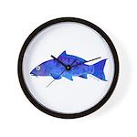 Blue Koi carp Wall Clock