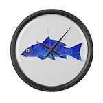 Blue Koi carp Large Wall Clock