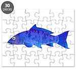 Blue Koi carp Puzzle