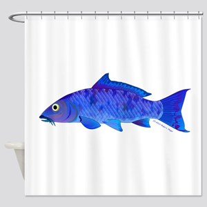 Blue Koi carp Shower Curtain