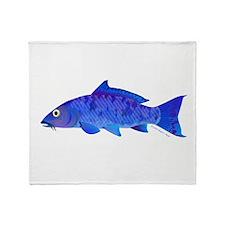 Blue Koi carp Throw Blanket