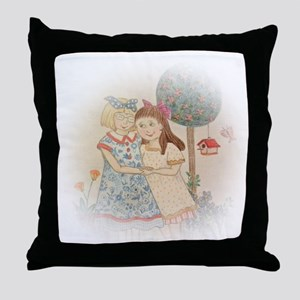 Hand Drawn Sisterly Love Throw Pillow