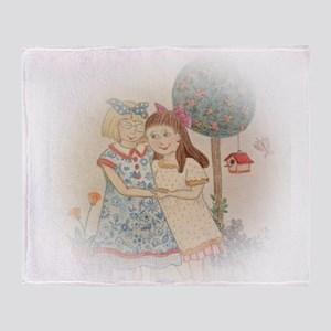 Hand Drawn Sisterly Love Throw Blanket