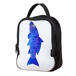 Blue koi carp c Neoprene Lunch Bag