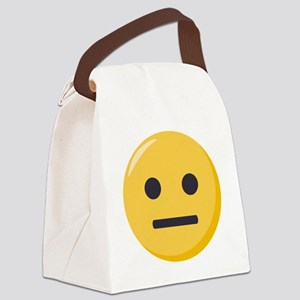 Neutral-face Emoji Canvas Lunch Bag