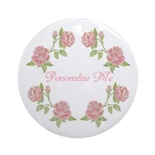Personalized Rose Ornament (Round)