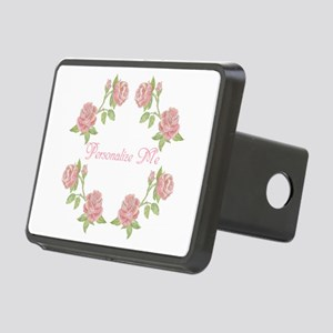 Personalized Rose Rectangular Hitch Cover