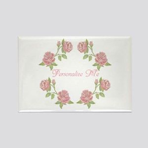 Personalized Rose Rectangle Magnet