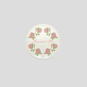 Personalized Rose Mini Button