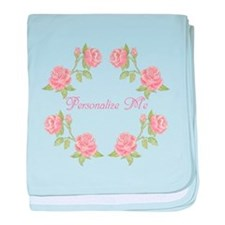 Personalized Rose baby blanket
