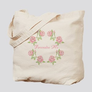 Personalized Rose Tote Bag