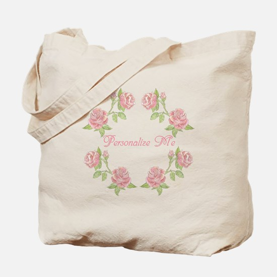 Personalized Rose Tote Bag