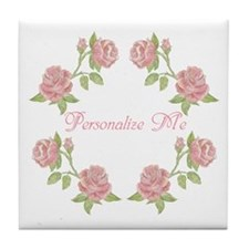 Personalized Rose Tile Coaster