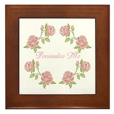 Personalized Rose Framed Tile