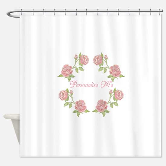 Personalized Rose Shower Curtain