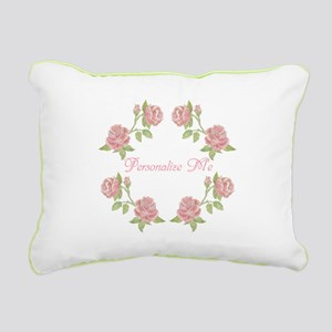 Personalized Rose Rectangular Canvas Pillow