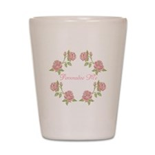 Personalized Rose Shot Glass