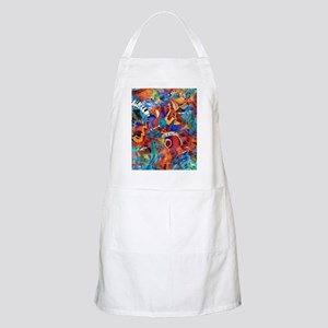 Music Trio Curvy Piano Colorful Abstract Mus Apron