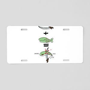 Sword Fish Aluminum License Plate