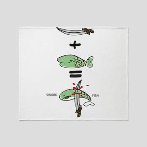 Sword Fish Throw Blanket