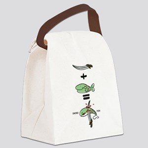 Sword Fish Canvas Lunch Bag