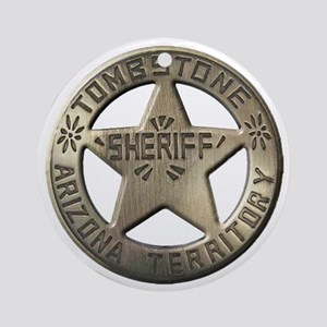 Tombstone Sheriff Ornament (Round)
