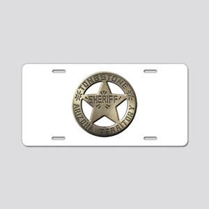 Tombstone Sheriff Aluminum License Plate