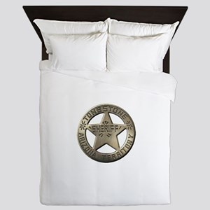 Tombstone Sheriff Queen Duvet