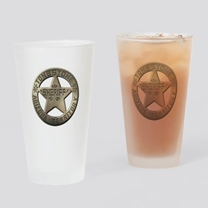 Tombstone Sheriff Drinking Glass