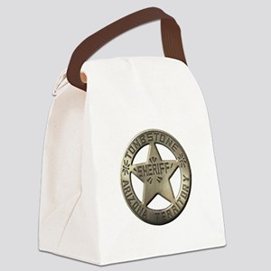 Tombstone Sheriff Canvas Lunch Bag