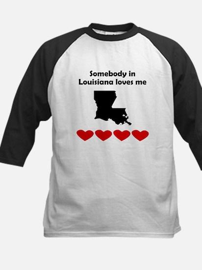 Somebody in Louisiana Loves Me Baseball Jersey