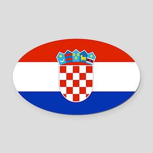 Croatia Oval Car Magnet
