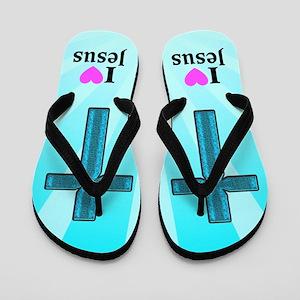 JESUS IS LOVE Flip Flops