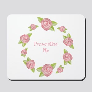 Personalized Rosette Mousepad