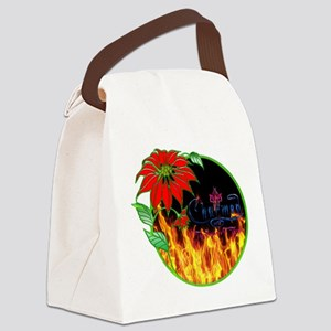 Charmed christmas flower Canvas Lunch Bag