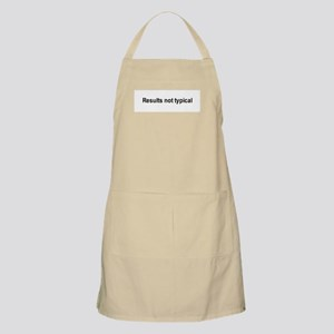 Results not typical / Gym humor BBQ Apron