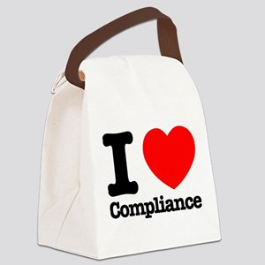 I Heart Compliance Canvas Lunch Bag