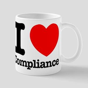 I Heart Compliance 11 oz Ceramic Mug