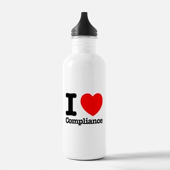 I Heart Compliance Water Bottle