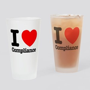 I Heart Compliance Drinking Glass