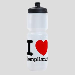 I Heart Compliance Sports Bottle